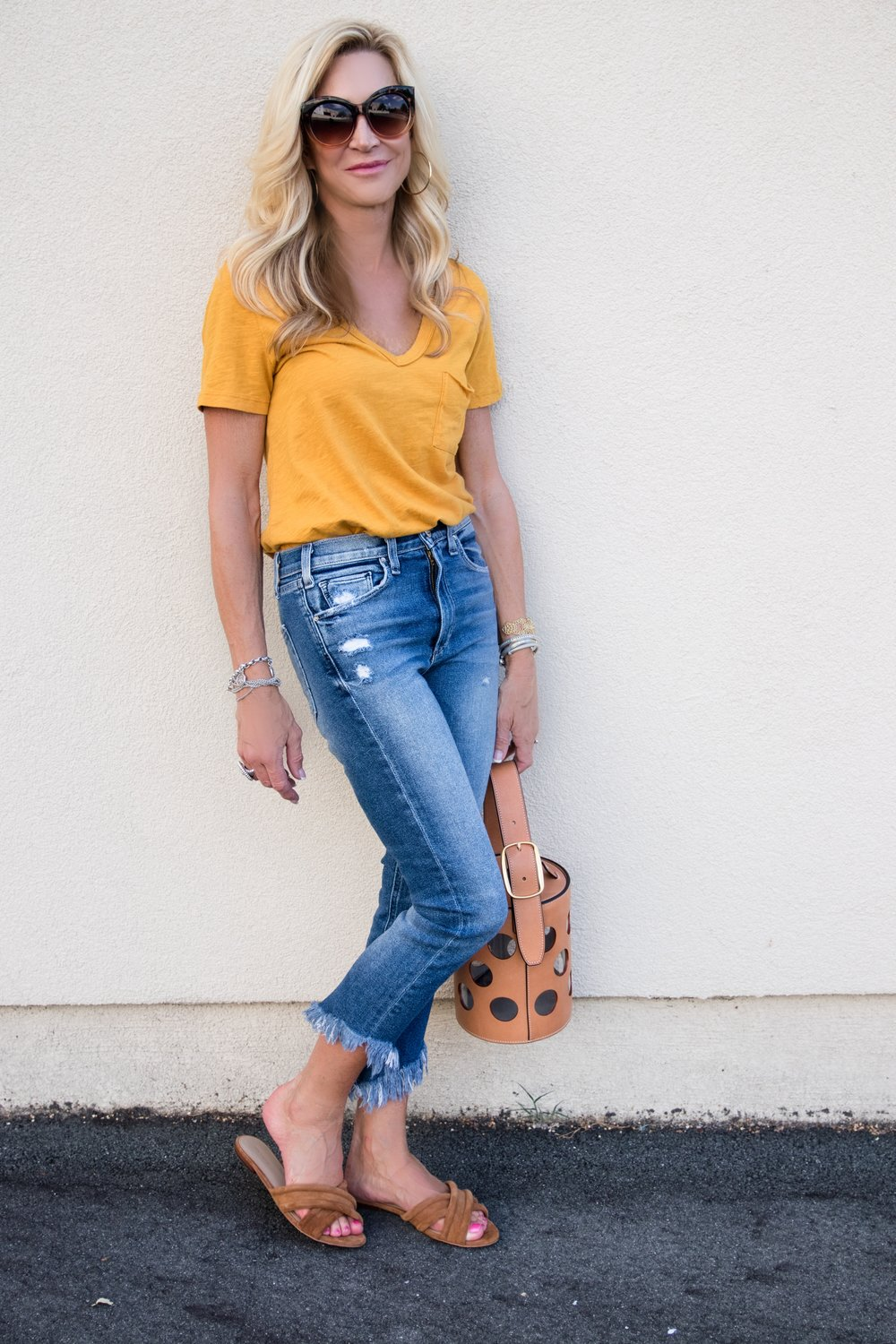 McQuire jeans and Anthropologie tee