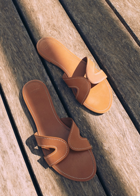 Violeta Leather Sandals - 60.00 (on sale!)