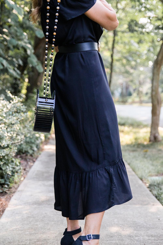Loft dress with Gucci belt