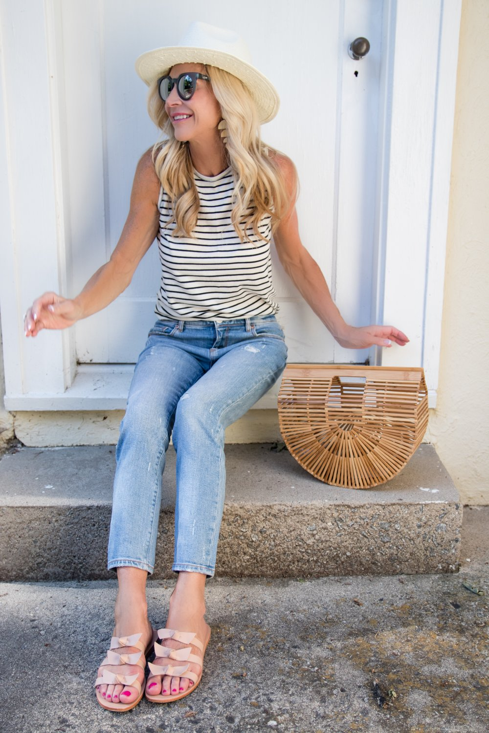 Summer Stripes with Jeans
