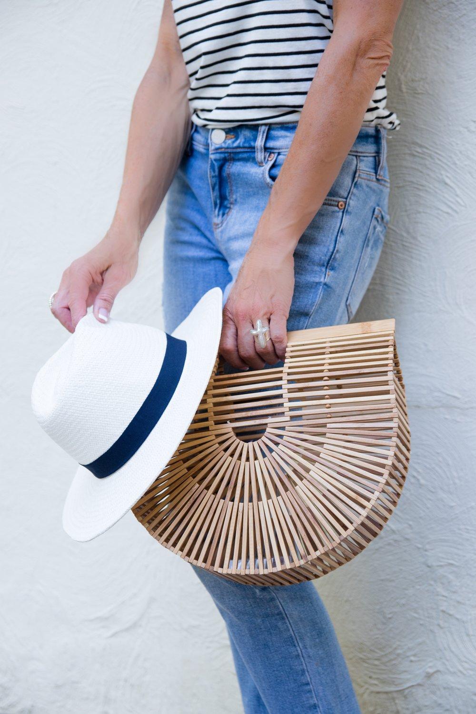 Summer Stripes, Cult Gaia Ark bag