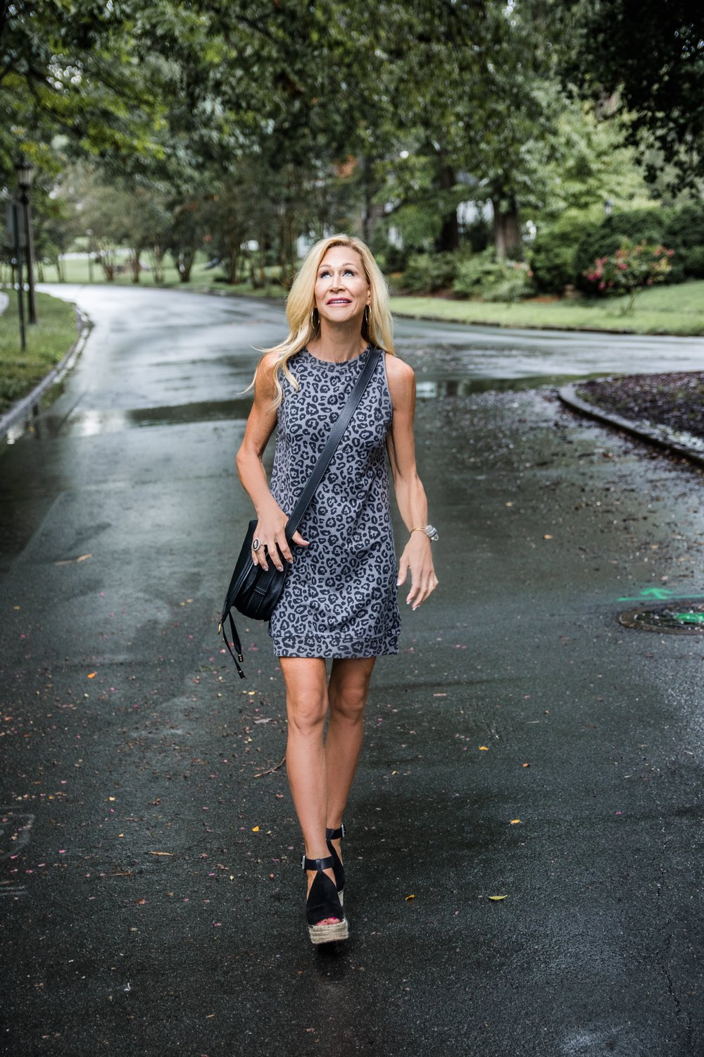 Transitional Fall Outfit - Leopard Dress