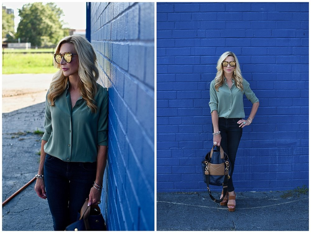 Olive Green Equipment Blouse