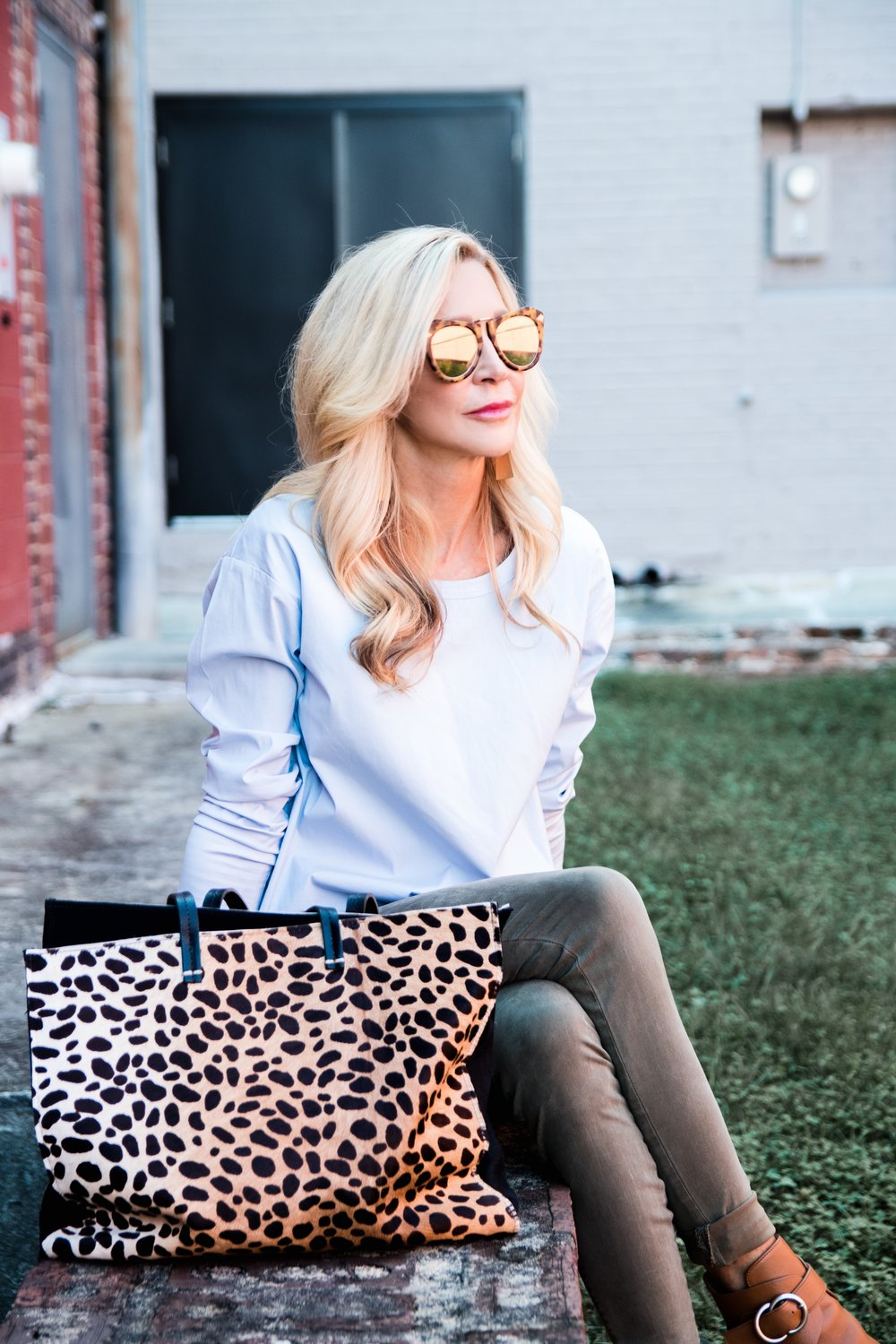 Leopard Bag - Transitional Fall Outfit