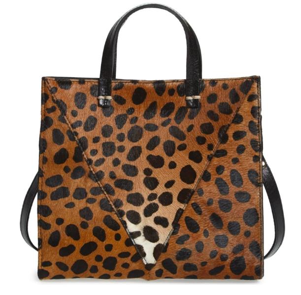 Clare V Leopard Calf Hair Tote -