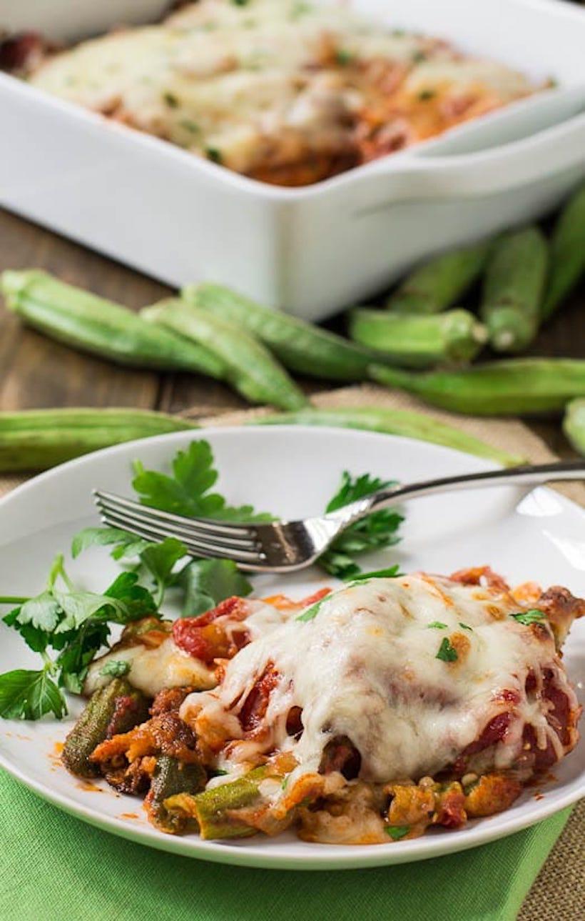 Okra Parmigiana Recipe