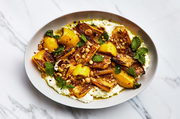 marinated-zucchini-with-hazelnuts-and-ricotta-recipe-BA-060518.jpgMarinated Summer Squash with Hazelnuts and Ricotta