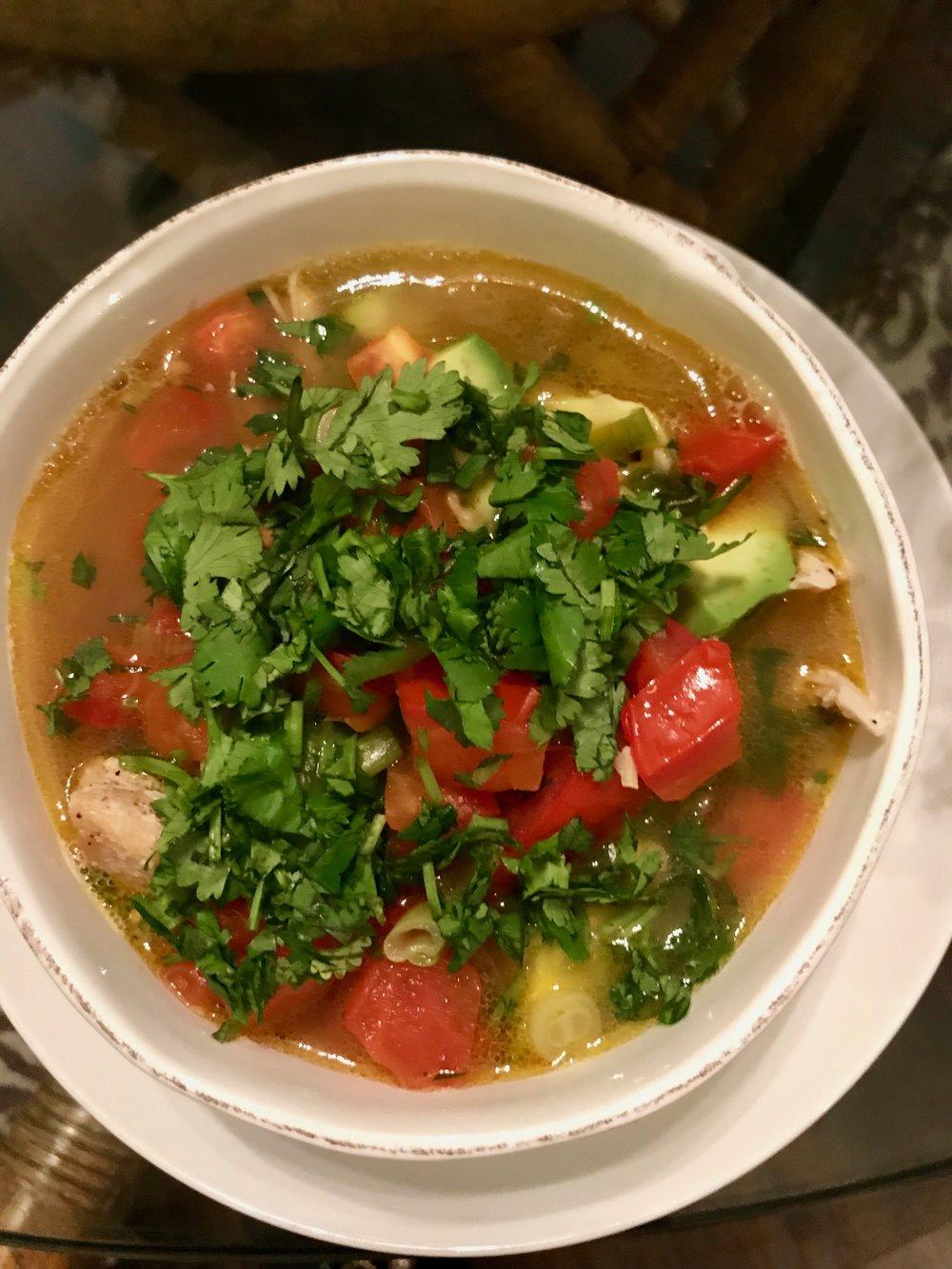 Chicken & Avocado Soup