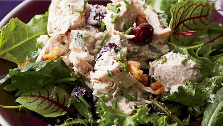 Walnut Cranberry Turkey Salad
