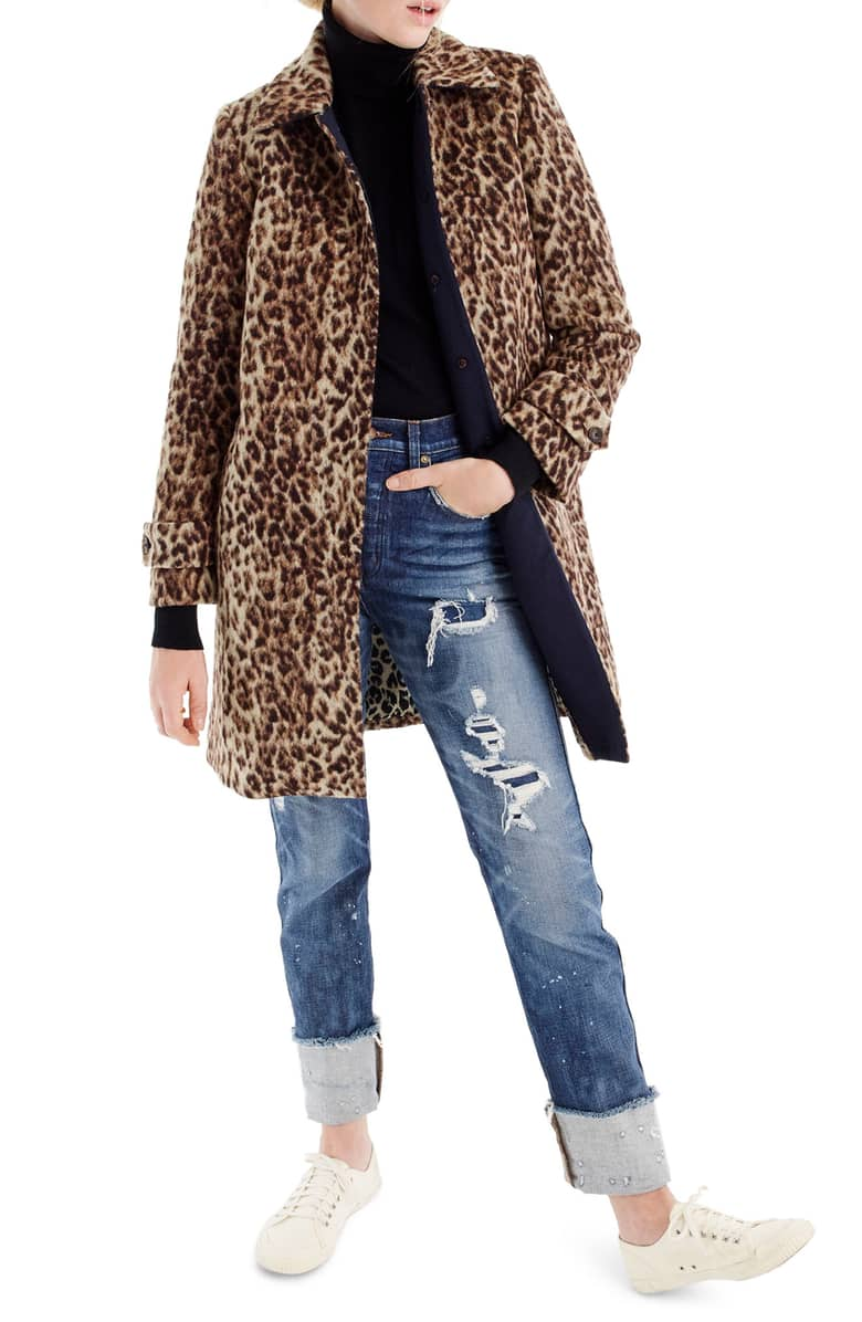 J Crew Leopard Coat -