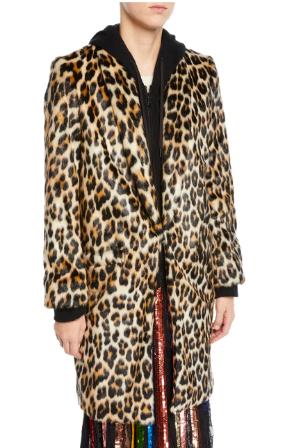 Alice and Olivia Leopard Coat -