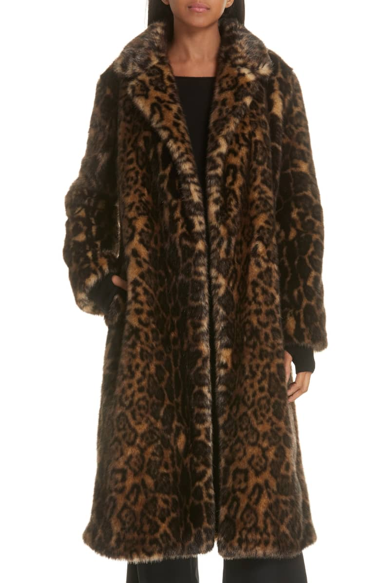 Nili Lotan Faux Fur Coat -