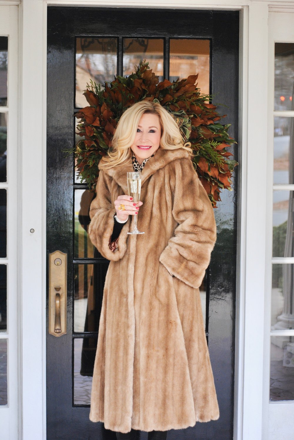 Long vintage faux fur coat- Crazy Blonde Style