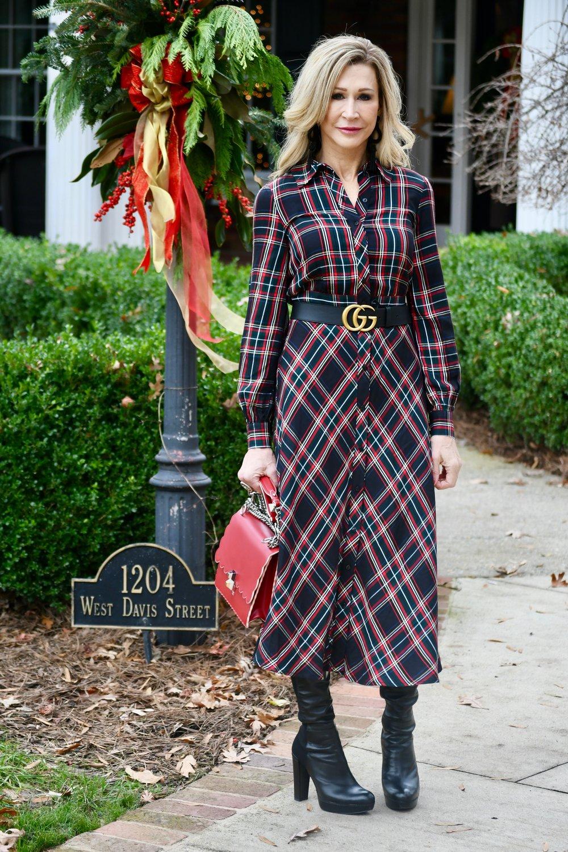 H & M Plaid Dress - Crazy Blonde Style