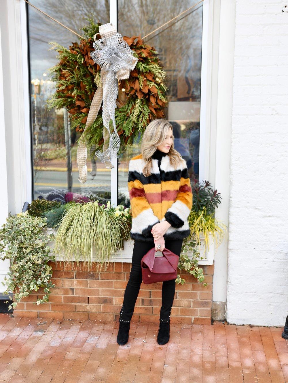 Zara Faux Fur Coat - Crazy Blonde Style