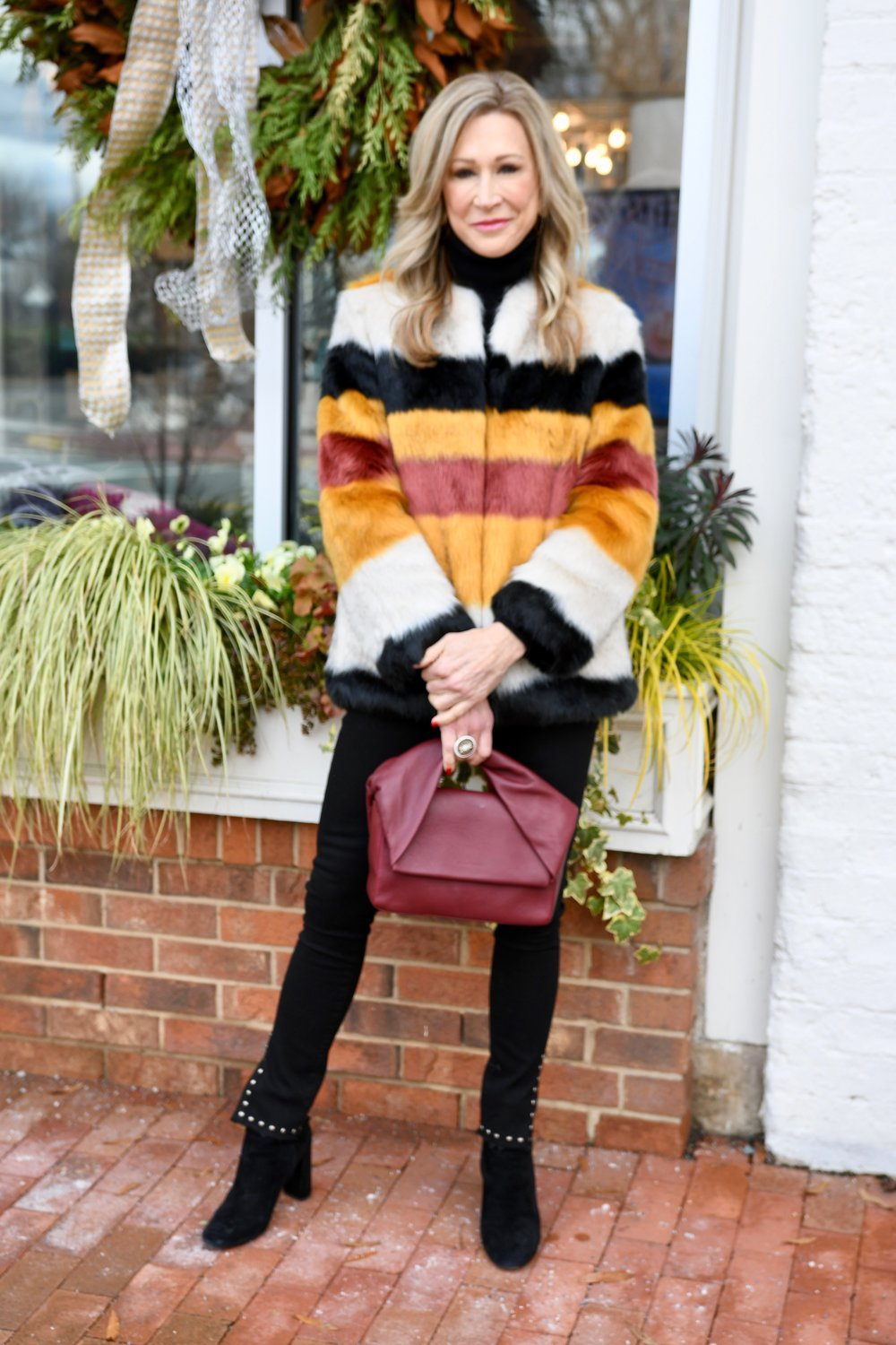 Faux Fur Coat from Zara - Crazy Blonde Style