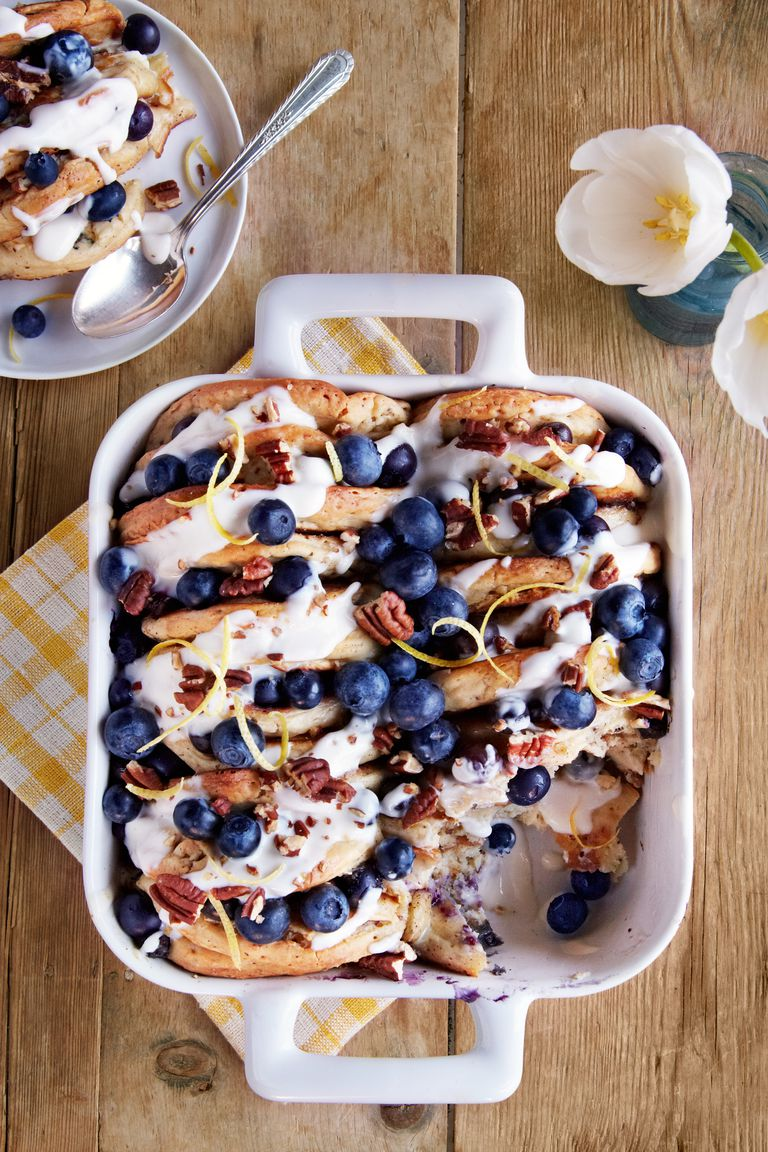 Blueberry Pecan Pancake Bread Pudding