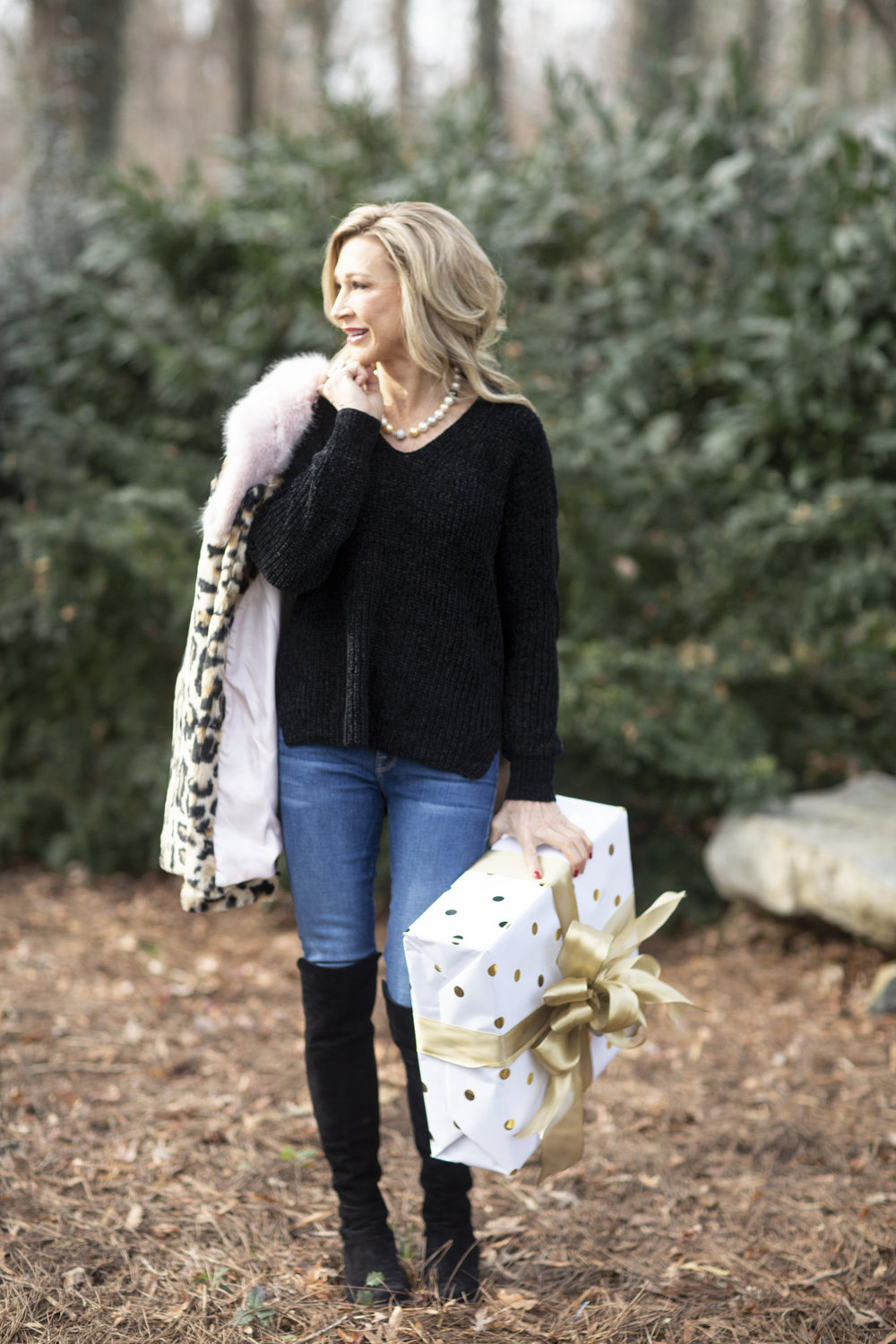 Michael Stars Sweater with Frame Denim and Stuart Weitzman Boots - Crazy Blonde Life