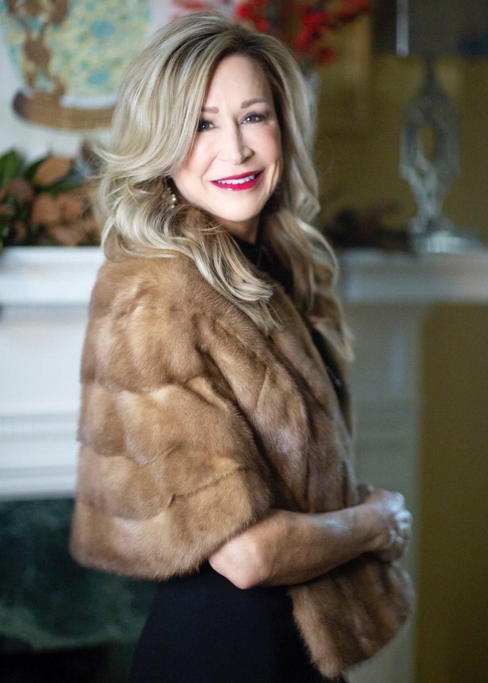 Vintage Fur Wrap - Crazy Blonde Style