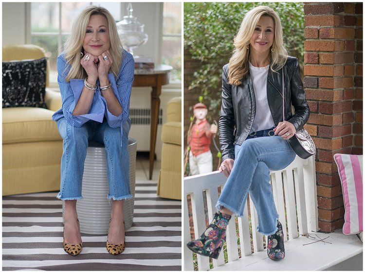 2 Ways to Wear Cropped Flair Jeans -Crazy Blonde Life