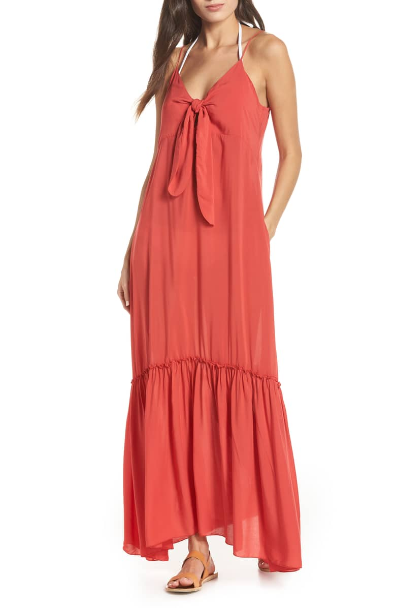 Perfect dress for a tropical getaway! - Living Coral Cover-up Dress