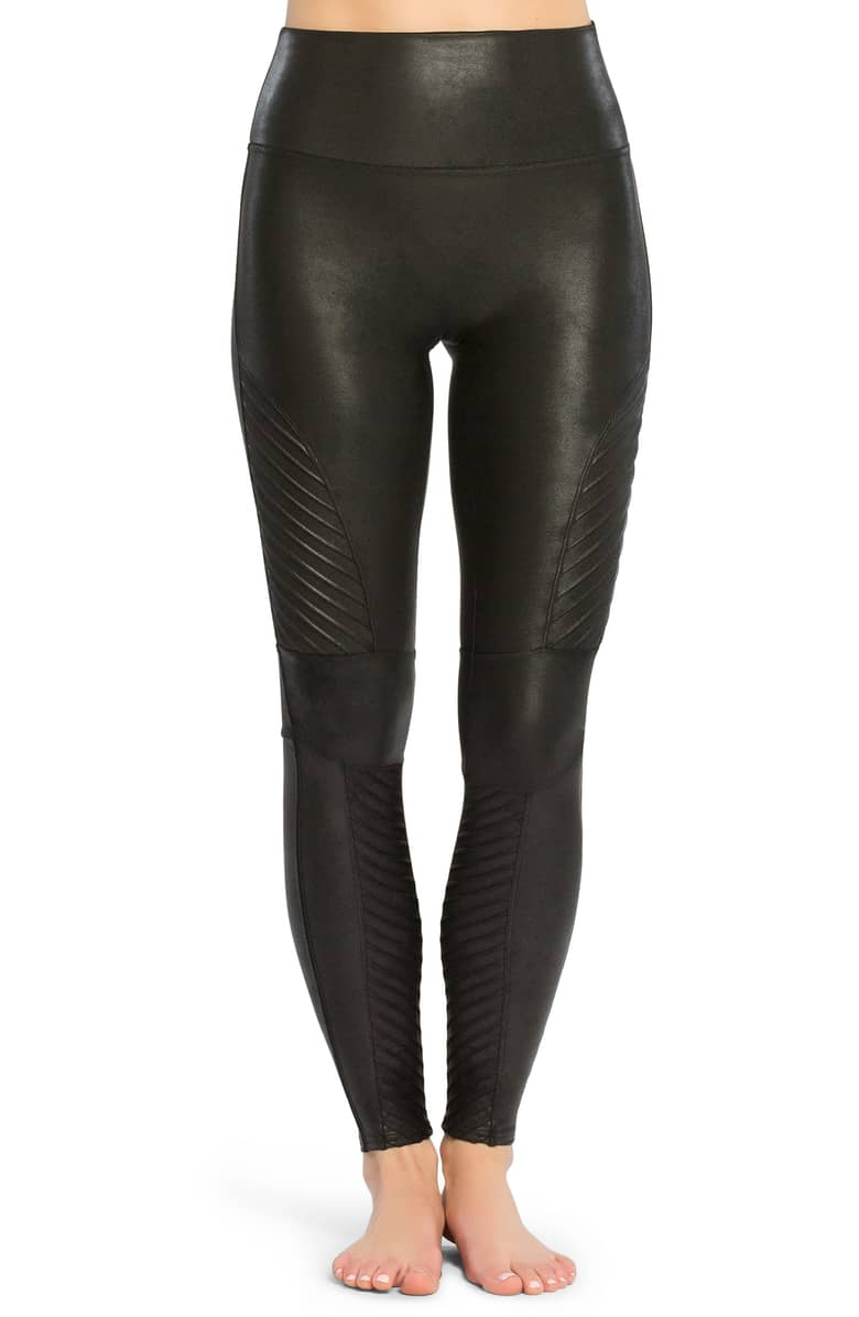 Spanx Faux Leather Moto Leggings -