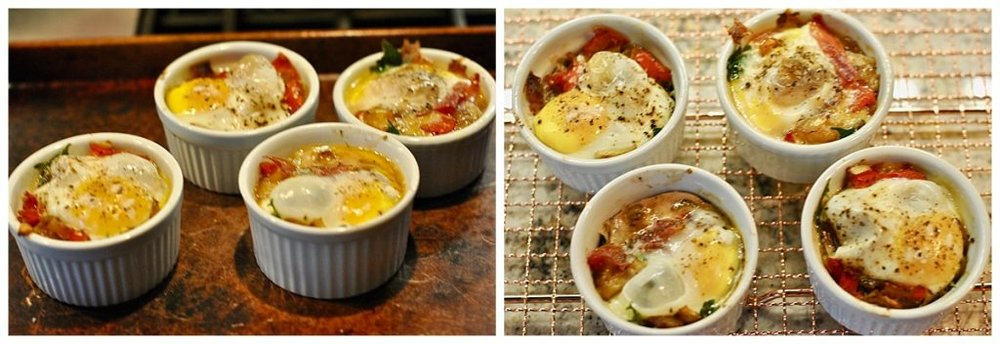 Baked Eggs with Fennel