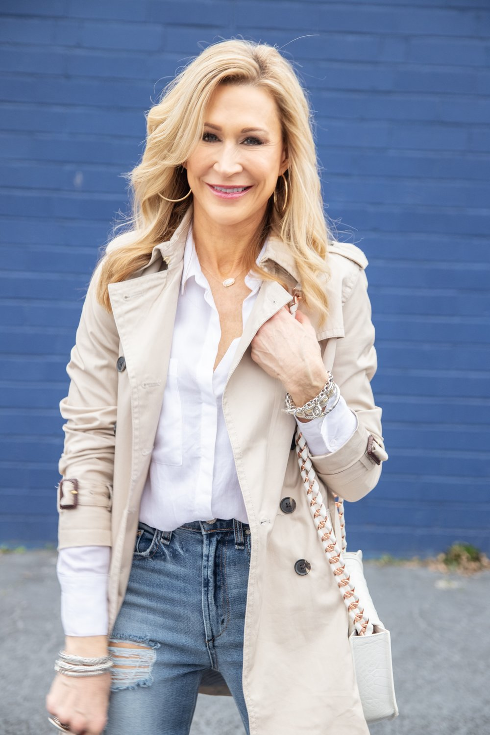 Trench Coat with McGuire Denim Jeans and Zara Booties