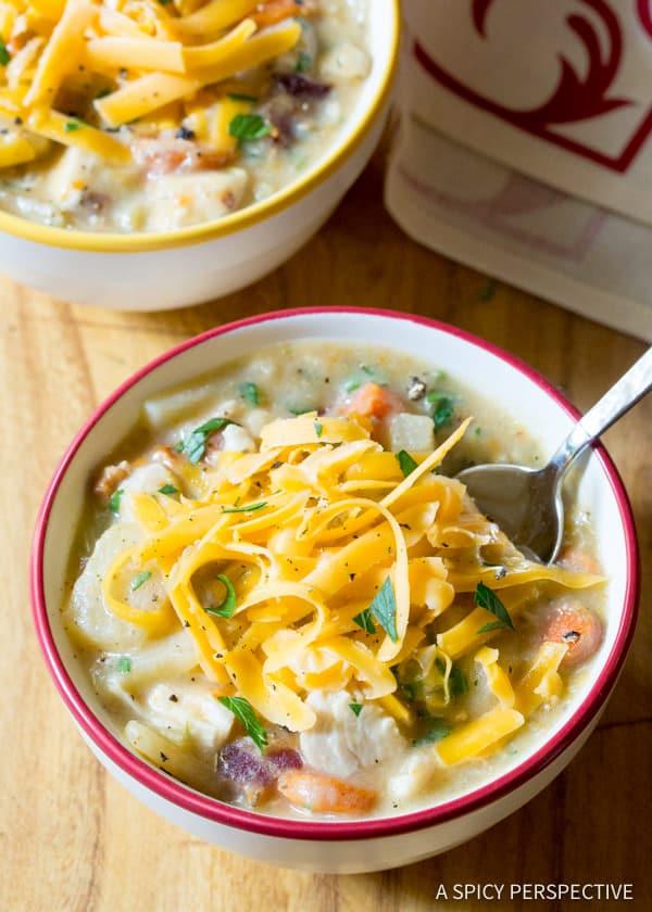 Healthy Crockpot Potato Soup