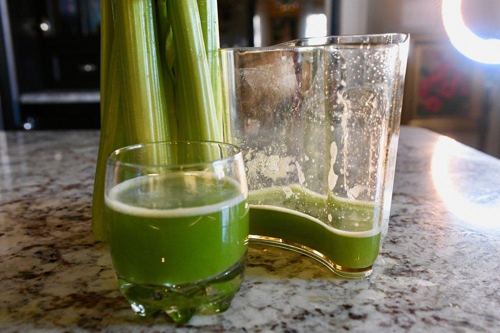 Making Celery Juice
