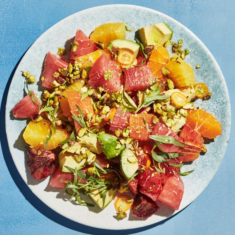 Citrus and Avocado Salad with Orange Water - From Epicurious