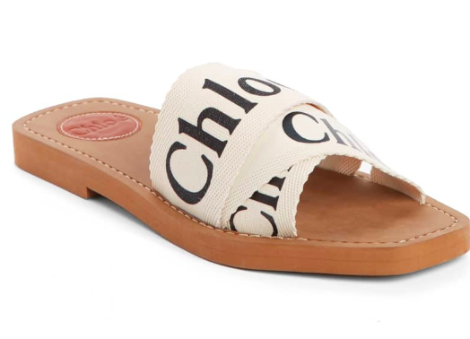 Chloe Logo Slide Sandal