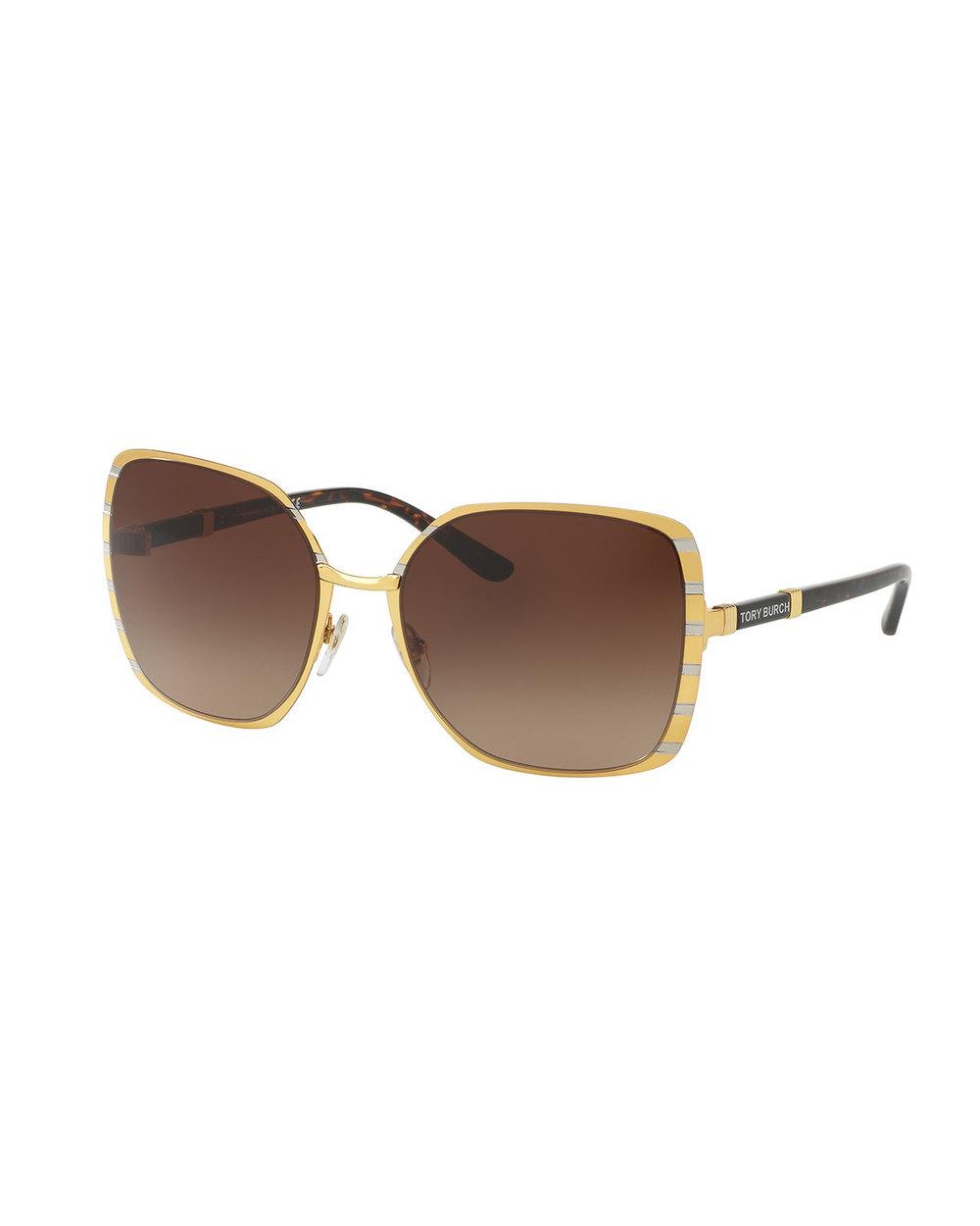 Tory Burch Square Metal Sunglasses -