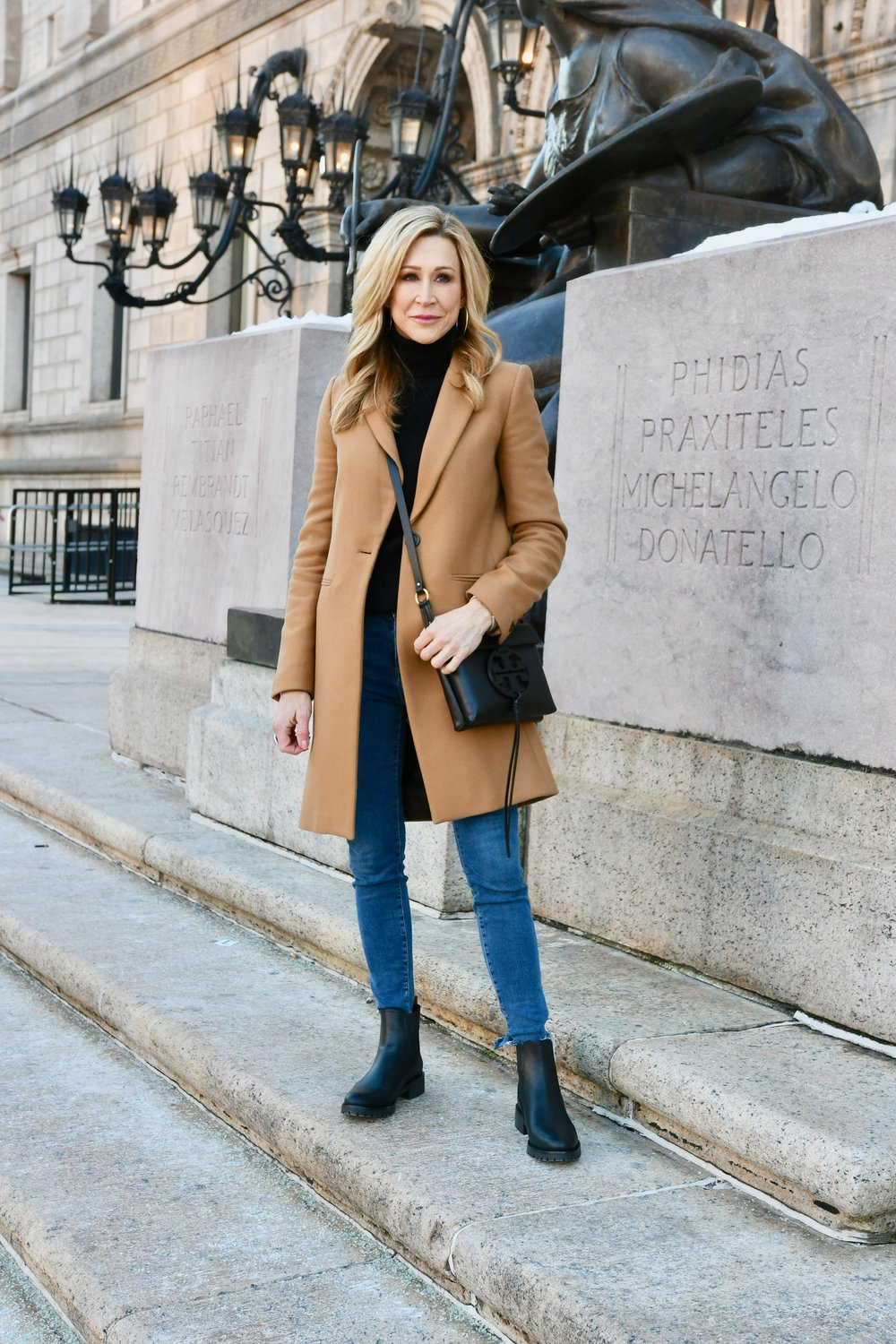 Wearing a Camel Coat