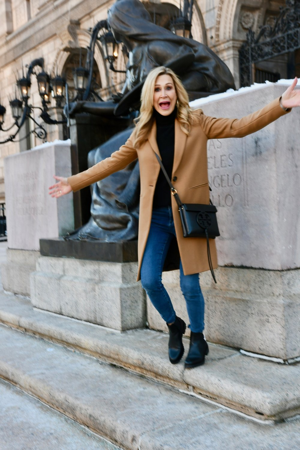 Styling a Camel Coat with Jeans