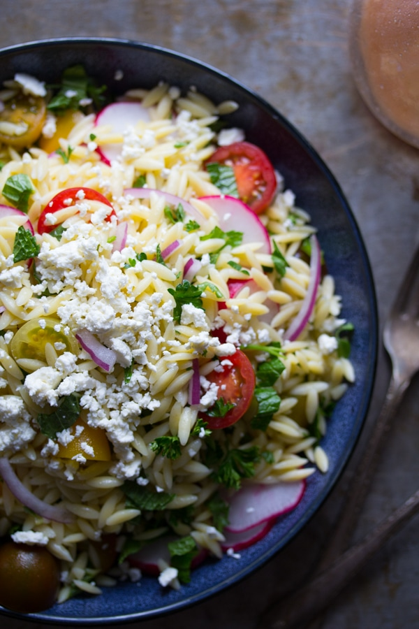 Pin 7K Herbed Orzo Pasta Salad With Tomatoes & Feta