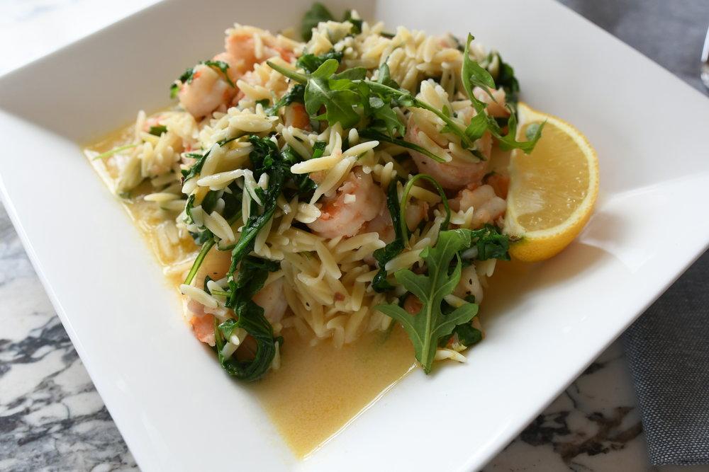 Lemony Shrimp with Orzo and Arugula
