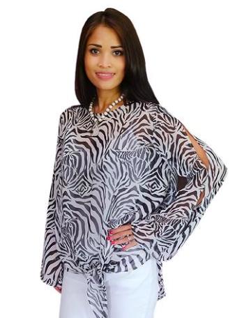 Zebra Tie Top -