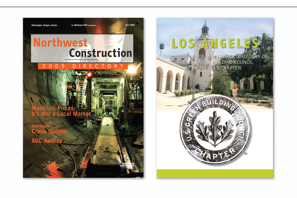Northwest Construction Annual Directory,   McGraw Hill Construction  and  Annual Membership Directory,   U.S. Green Building Council, Los Angeles Chapter