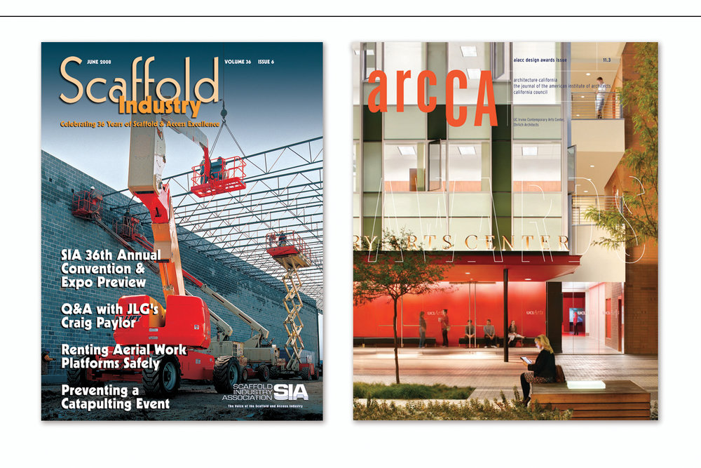 Monthly Industry Magazines,   Scaffold Industry Association  and  The Journal of the American Institute of Architects