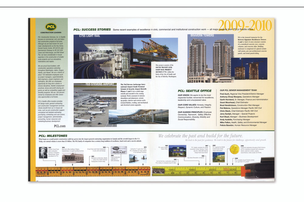 Capabilities and Milestones Brochure,   PCL Construction Services, Inc. — Seattle