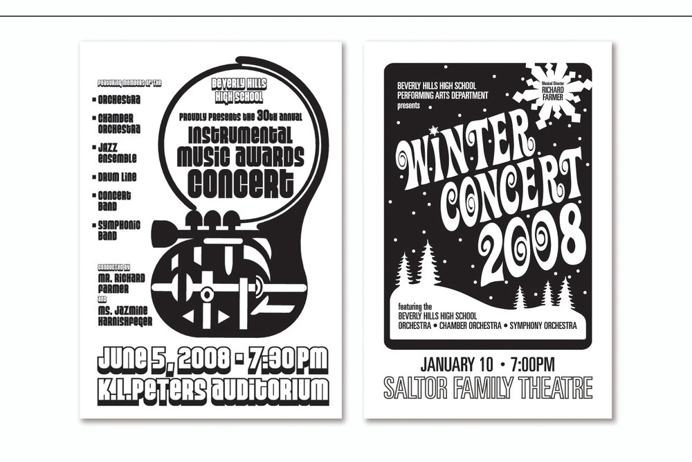 Performance Programs,   School Orchestra Concerts