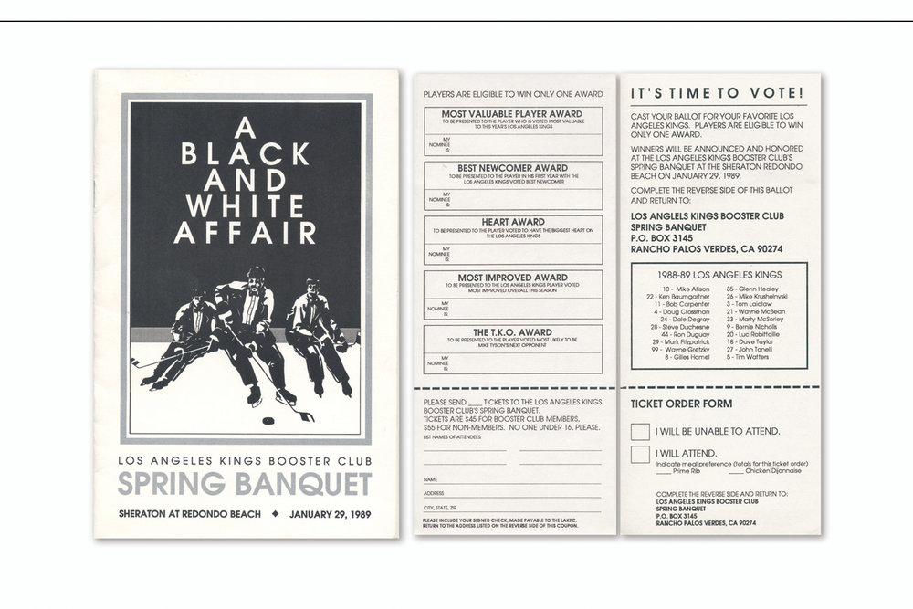Event Program,   Los Angeles Kings Booster Club