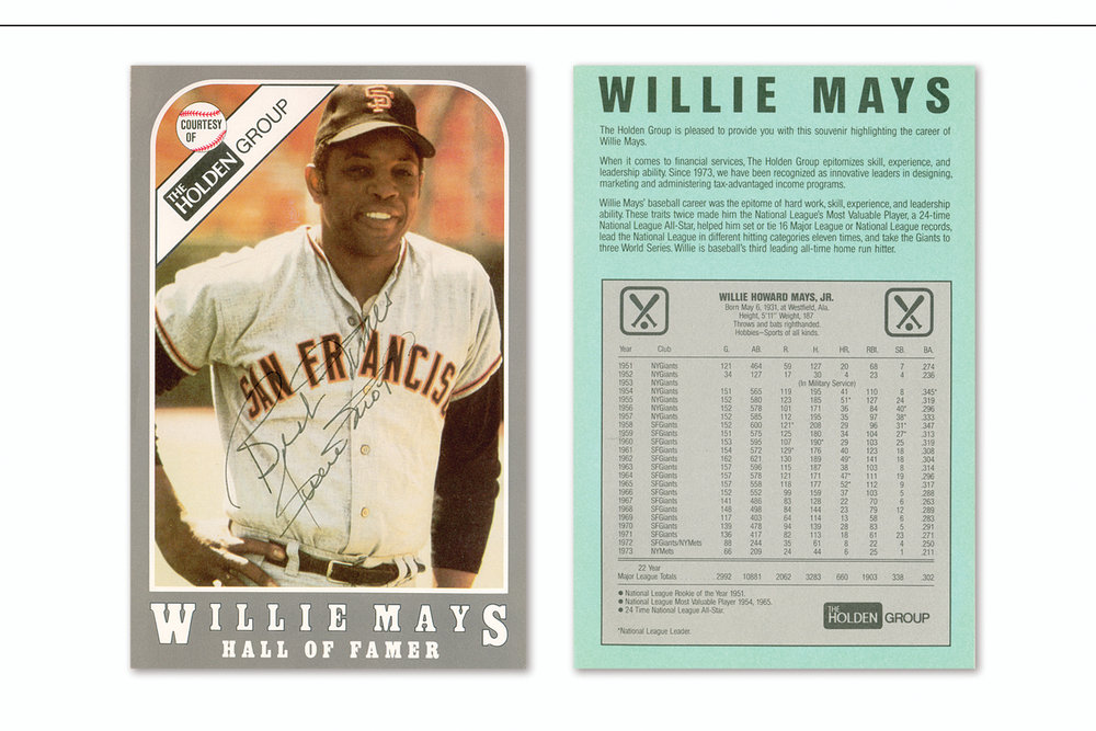 Promotional Baseball Card,   Trade show handout