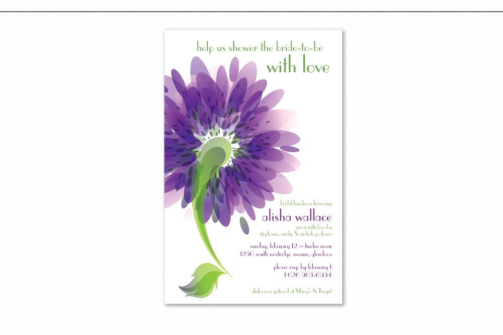 """Shower the Bride"",   Bridal shower invitation"