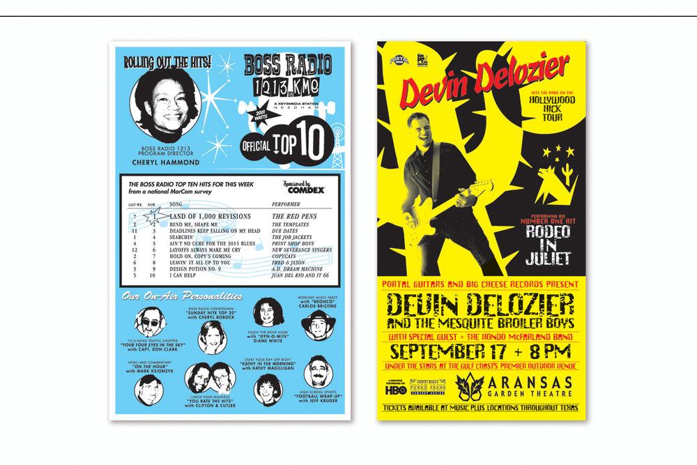 """Boss Radio""  and  ""On Tour"",   Birthday Cards"