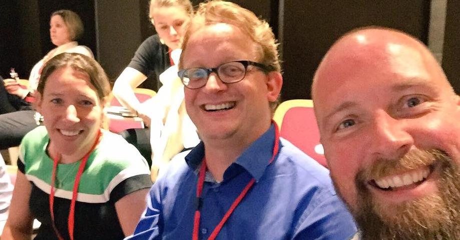 Fundraising Summer School 2017: Nienke Teunissen van War Child en Bas Klaassen van SOS Kinderdorpen. En ik.