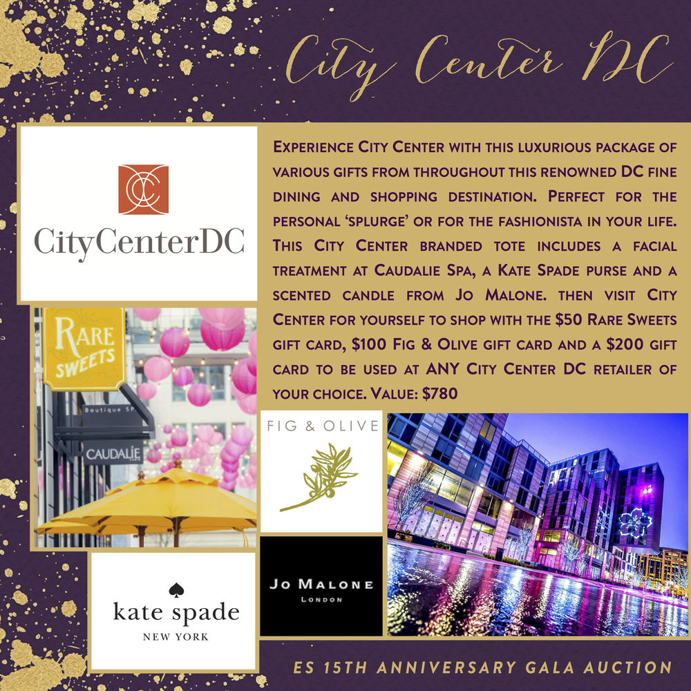 ES 15th Anniversary Gala-Auction Items-City Center DC.jpg