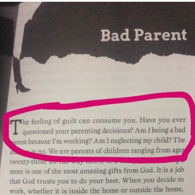 "From the book... Do you ever feel like your a ""Bad Parent"" because you work and don't spend every second of your life with your children? *******************************************In the book we share ways to get over the feeling of being a ""Bad Parent""  Get your copy - Link In Bio"