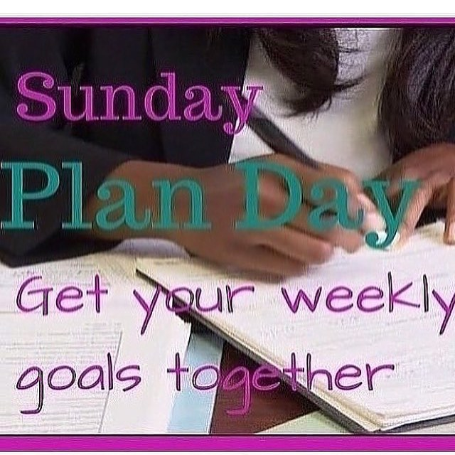 Happy Sunday Wife. Mom. Entrepreneur 💜  Today is the perfect day to get your weekly goals together. Have a seat with a cup of coffee, pull out your planners, white board, calendar and or notebooks a get started. Here are a few ideas on how to get started. • • •  _______________________________________ 🏆 1. List activities your children are involved in this week if any 🏆 2. What's needed in the house? ] 🏆3. Business related goals what are they this week? ( meetings, networking, proposals, etc.) ] 🏆4. Ladies night this week? ] 🏆5. Social media post? (Prepare post in advance) #marriedwithchildren #sundayfunday